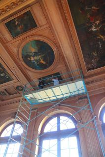 Les tableaux du plafond. (crédit photos: J-C Brunet)